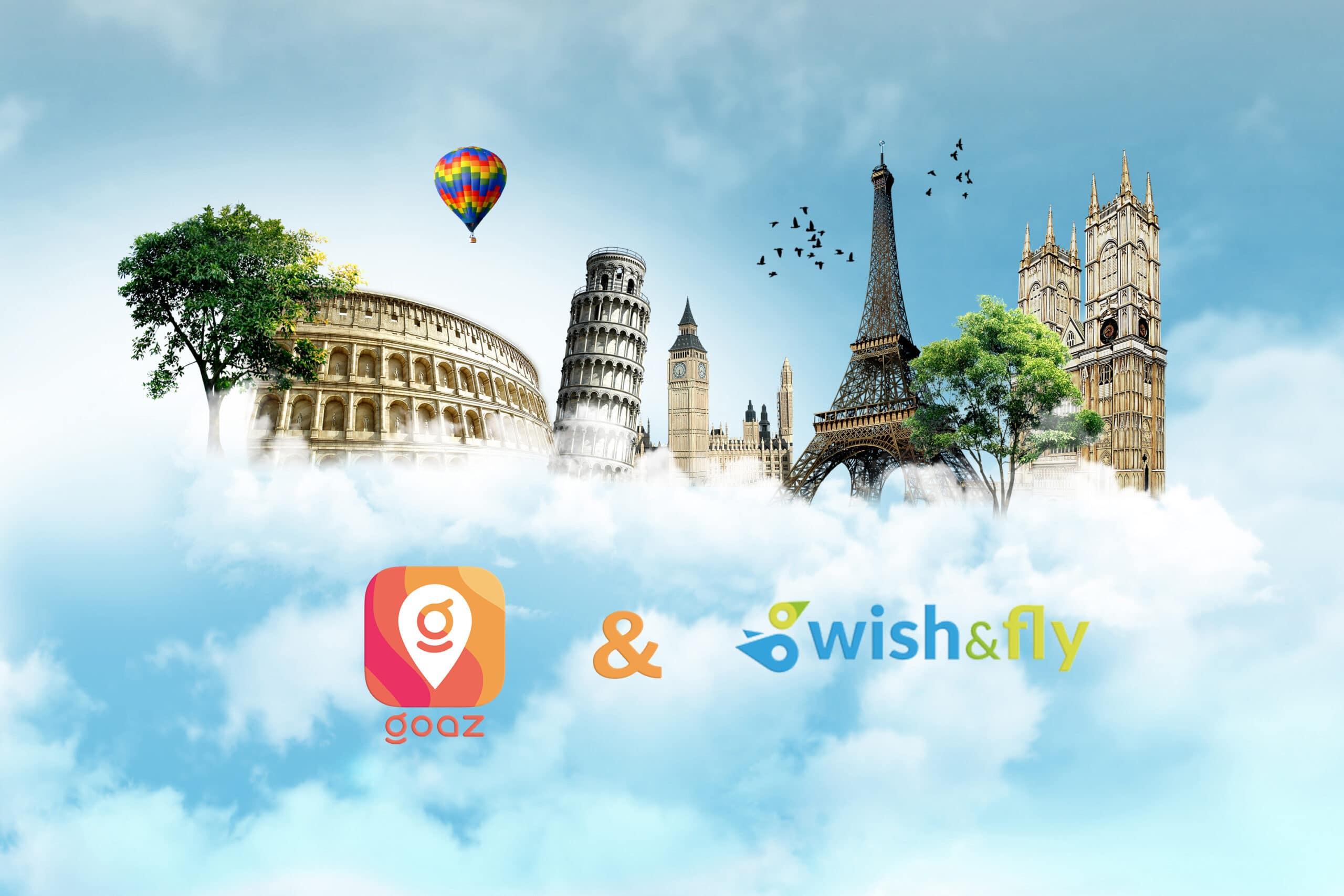 Goaz y Wish & Fly se unen para ofrecer una experiencia completa de viaje a sus usuarios